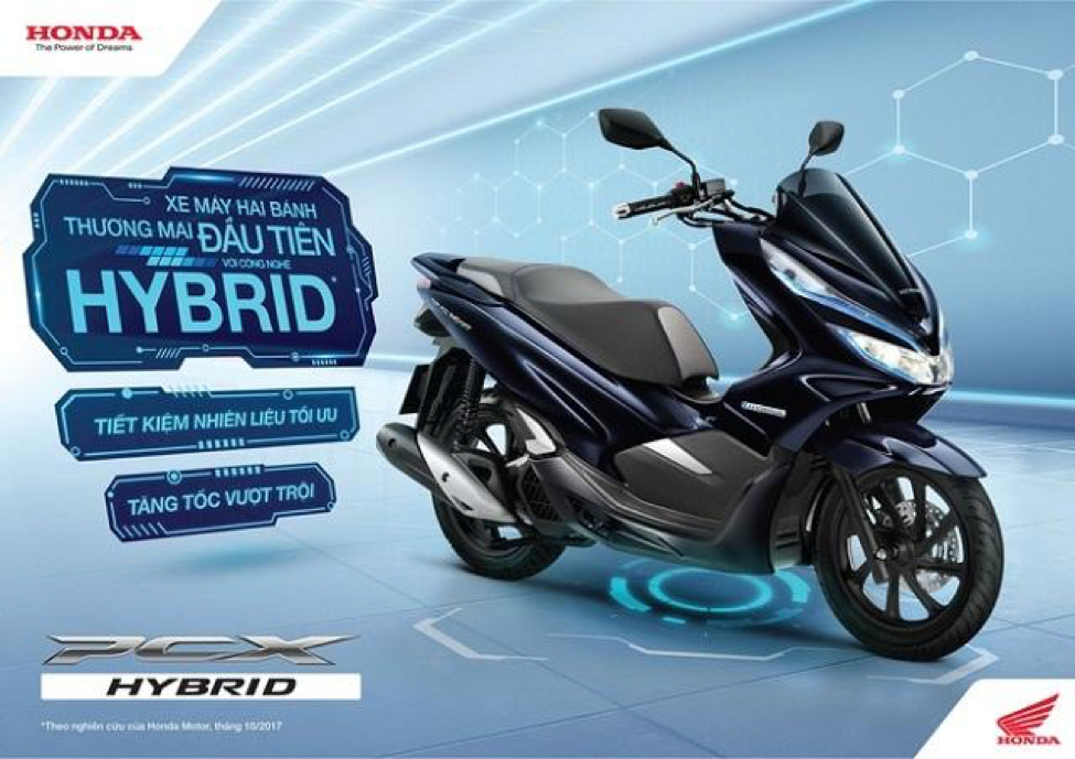 Honda PCX HYBRID sử dụng công nghệ Hybrid hiện đại – lần đầu có ở xe 2 bánh