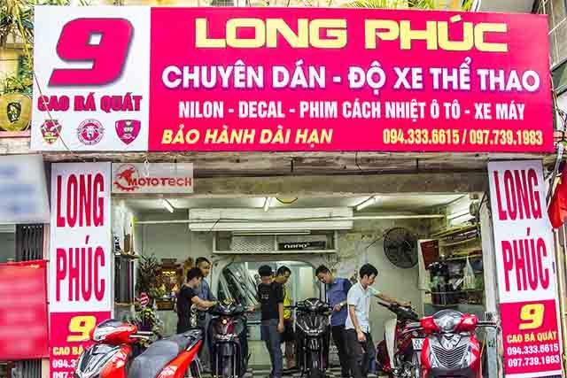 Địa chỉ dán xe máy uy tín tại Hà Nội