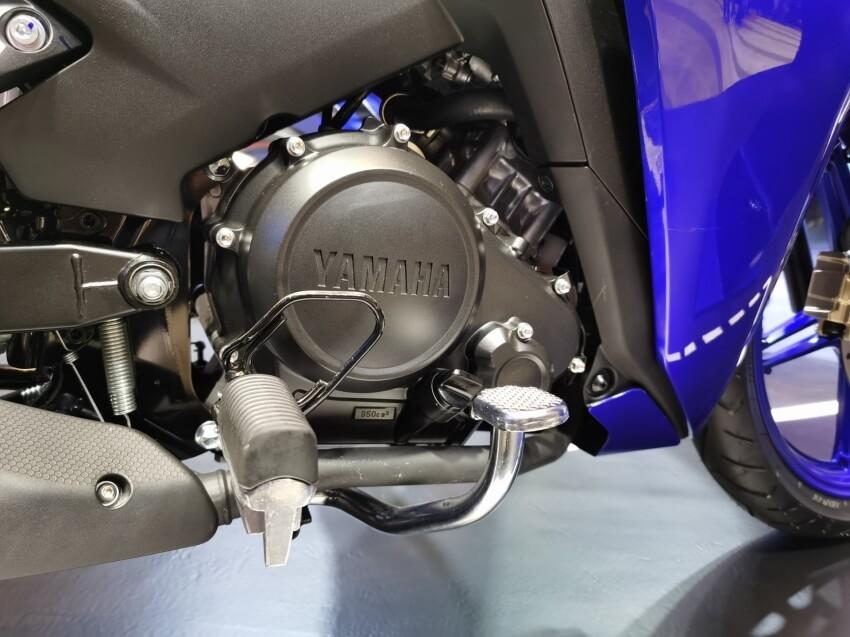 Xe côn tay Exciter 155 có động cơ 155cc và hộp số 6 cấp