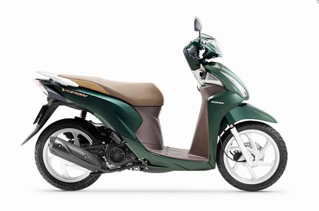 Xe Vision xanh lục